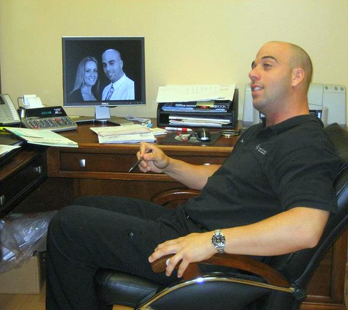 Our dentist Dr. James Kerns in his office at Smile Design Dental of Plantation