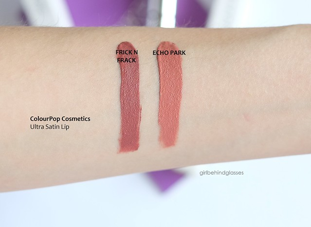 ColourPop Ultra Satin Lip Frick n Frack Echo Park swatch