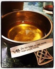 When the fortune cookie tells you to not take advice. #i502 #olywa #whisky #quaich