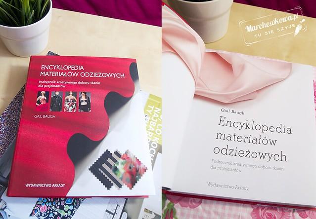 marchewkowa, blog, szycie, krawiectwo, recenzja, książka, publikacja, Encyklopedia materiałów odzieżowych, tkaniny, dzianiny, materiały, dodatki pasmanteryjne