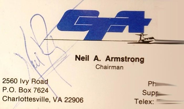 Neil Armstrong's Business Card - Celebrity Business Cards