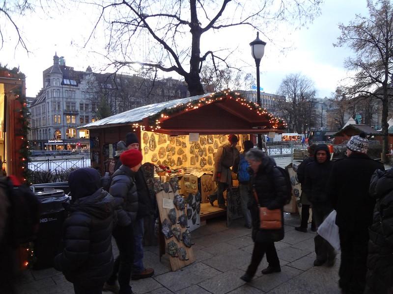 Feira de Natal no centro de Oslo
