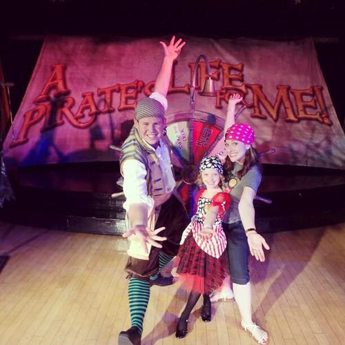 Addie and I won a pirate game show last night! #DisneyMagic