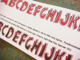 "Hatch Show Print ""wood type friends"" letterpress print"