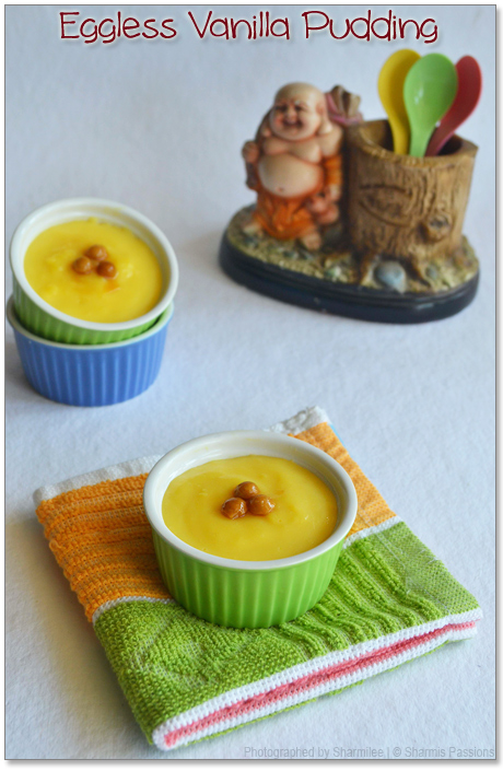 Eggless Vanilla Pudding Recipe
