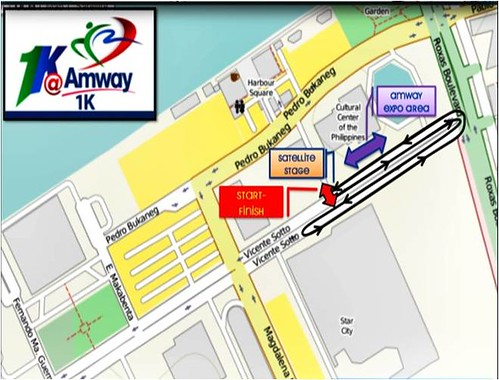 Amway Run 1k Route