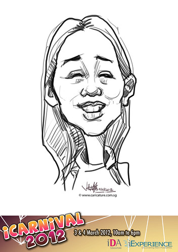 digital live caricature for iCarnival 2012  (IDA) - Day 1 - 4