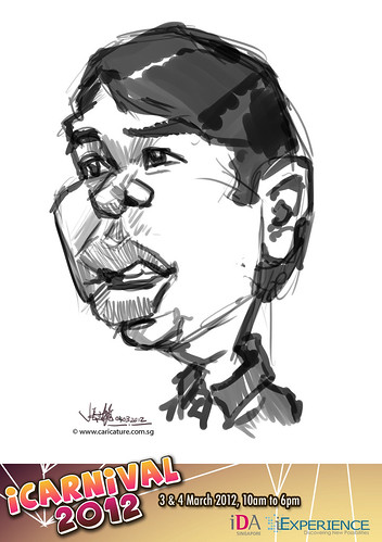 digital live caricature for iCarnival 2012  (IDA) - Day 2 - 2