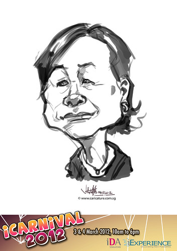 digital live caricature for iCarnival 2012  (IDA) - Day 2 - 38