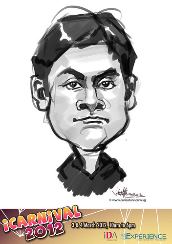 digital live caricature for iCarnival 2012  (IDA) - Day 2 - 68