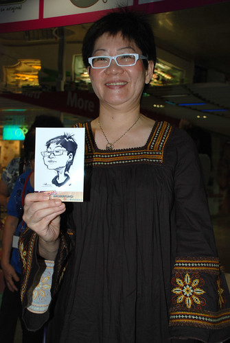 digital live caricature sketching for iCarnival (photos) - Day 2 - 21