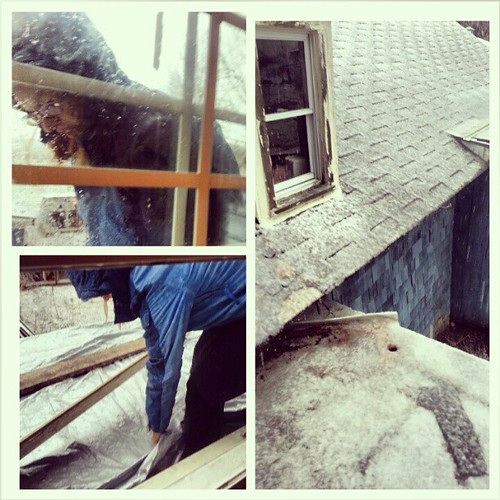 Tarped my first roof. #oldhouse #flatroofwoes