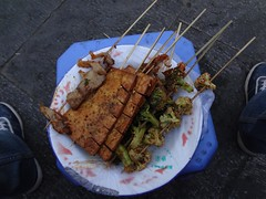 Comida de rua em Lhasa Tibete