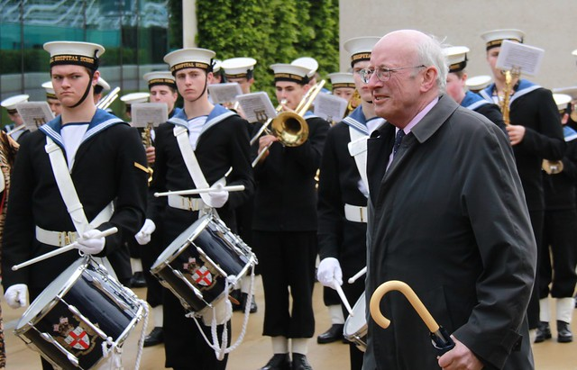 Nick Raynsford arriving at NMM for Queen's reception