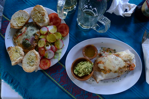 Veggie Entrees at Restaurant Club Sandwich - Antigua, Guatemala