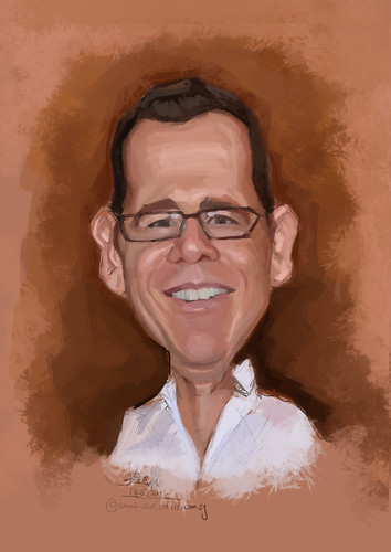 digital caricature for Hewlett Packard - 3