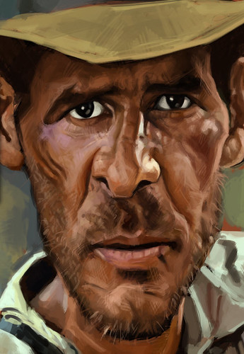digital caricature of Harrison Ford - 3