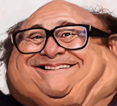 digital caricature painting of Danny DeVito - 2