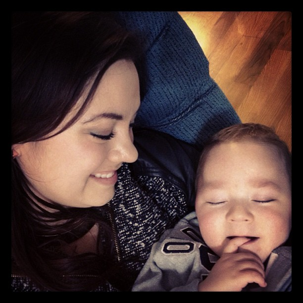 Love me some Harrison-boy snuggles. #family #proudauntie #christmaseve