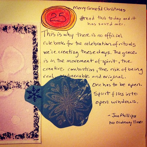 Spirit flies into open windows. Thanks to @theejanphillips and #adventwindows for this. XoS