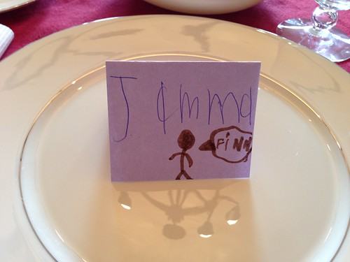 Jamma's place card