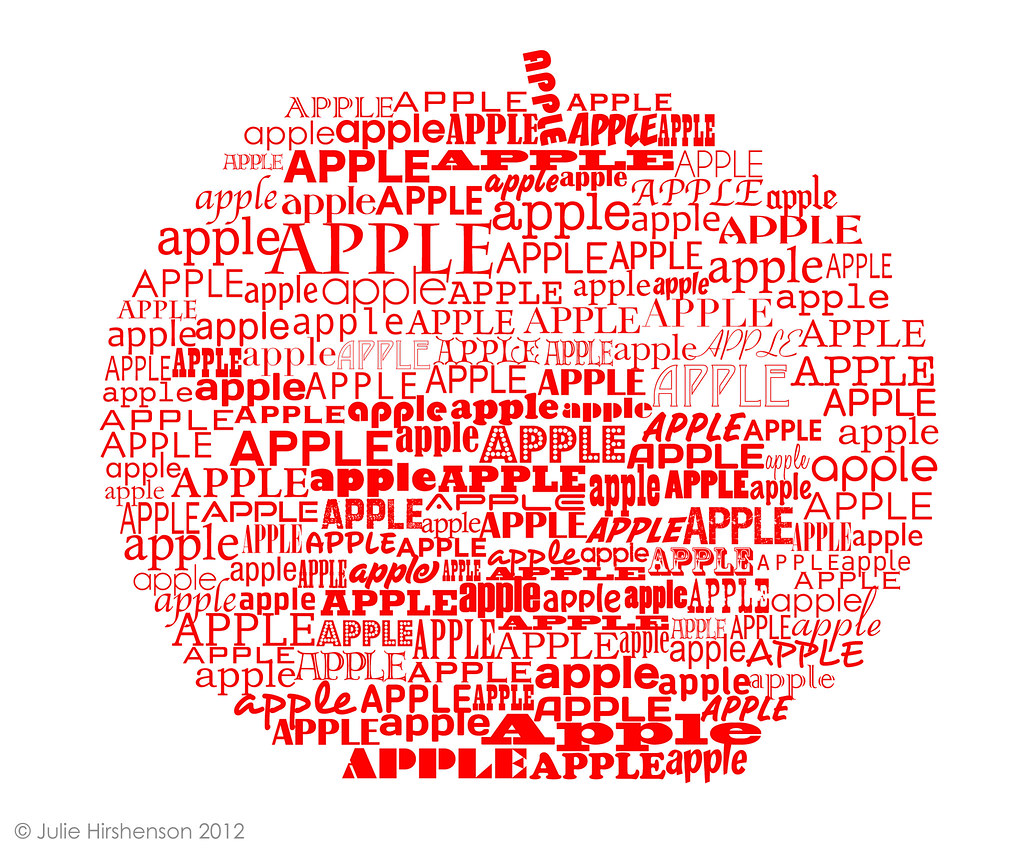 APPLE IN TYPE