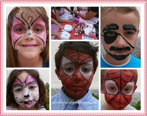Pinturas faciais festa Qta dos Lombos II by Osbolosdasmanas