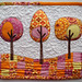 Modern Trees mini quilt by PatchworkPottery