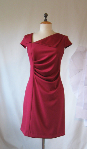 Lekala dress on form front