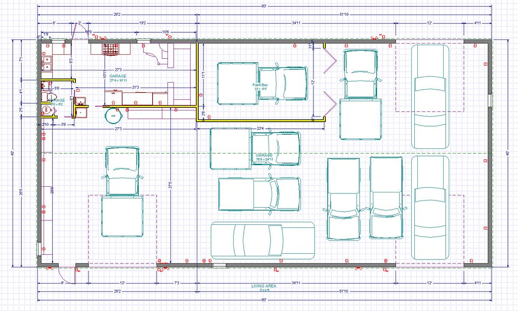 Watch in addition Watch besides 40x60 House Plans also 40x60 Pole Barn Plans Free further 3 Car Garages Pictures. on pole barn house plans 80 x 40