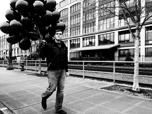 Man with the Black Balloons