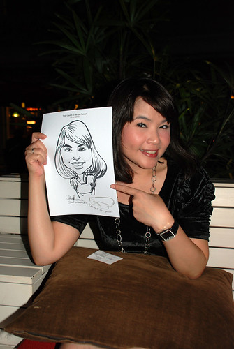 caricature live sketching for Kaleido Vision Pte Ltd Product Launch - 11