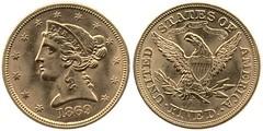 1869-S Half Eagle