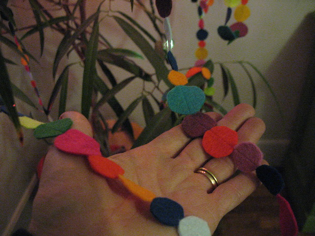 my new felt garland