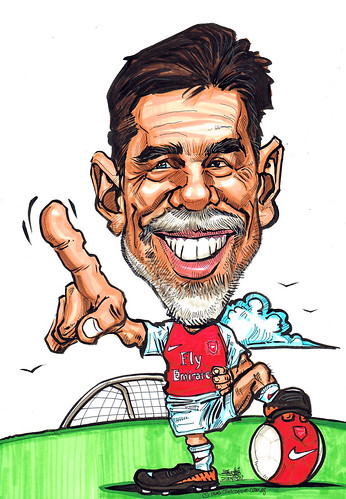 Arsenal soccer fans caricature