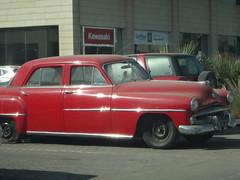 automobile(1.0), automotive exterior(1.0), vehicle(1.0), full-size car(1.0), plymouth cranbrook(1.0), compact car(1.0), antique car(1.0), sedan(1.0), classic car(1.0), vintage car(1.0), land vehicle(1.0), luxury vehicle(1.0),