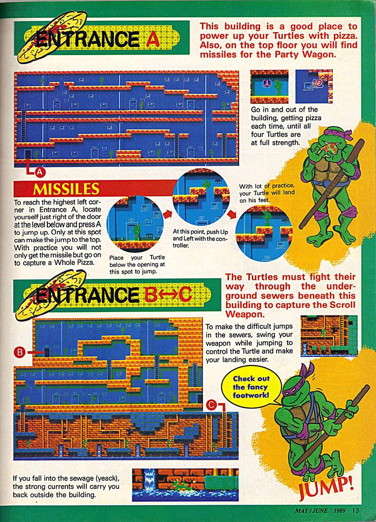 "NINTENDO POWER ::  MAY/JUNE 1989 // Vx p.13 "" TEENAGE MUTANT NINJA TURTLES "" { original review } by tOkKa"
