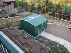 Shed, constructed by Adam