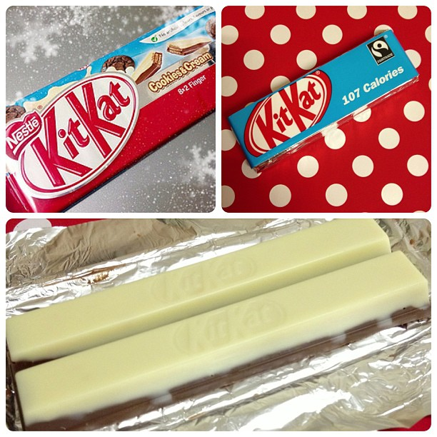 Hmm we'll I've eaten it and it was nothing special. My favourite will always be orange flavour #kitkat #nestle #cookieandcream