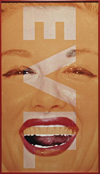 Barbara Kruger, Ohne Titel - Evil, 2001 350x