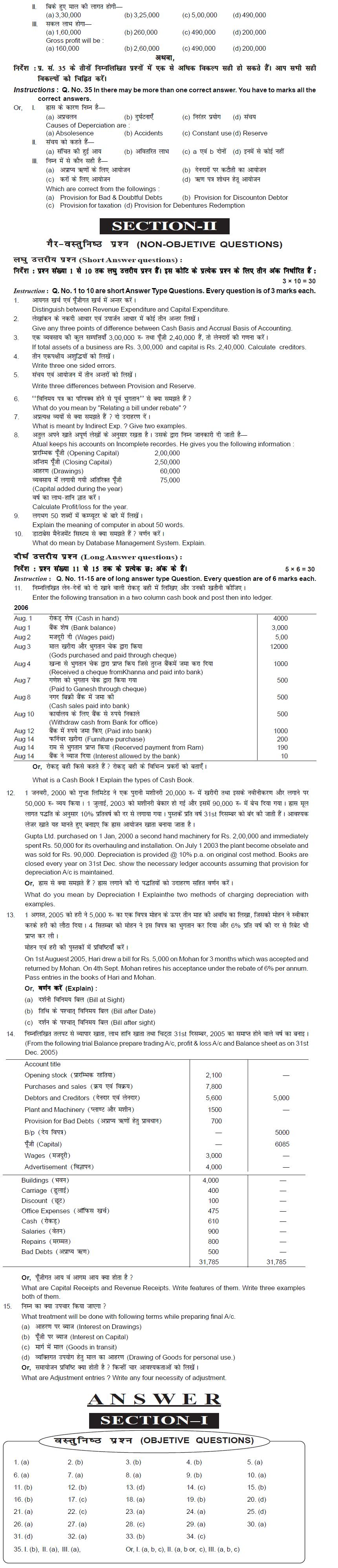 Cbse class 11 commerce sample papers.