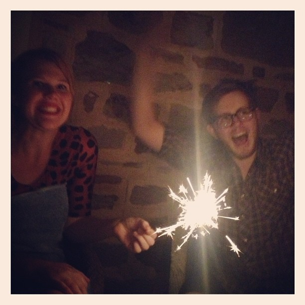 Sparklers are awesome!