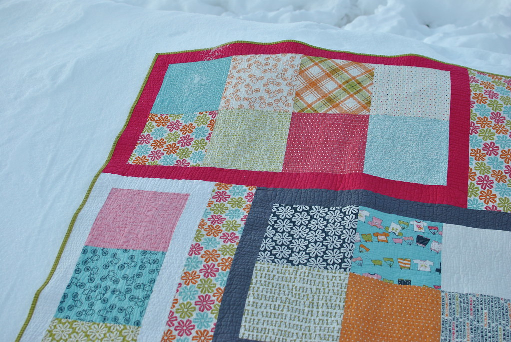 Lucy's Crab Shack Puzzle Quilt - detail