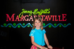 Abbie on stage in Margaritaville Key West Florida