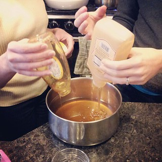 We made a triple batch; so we needed six cups of honey.