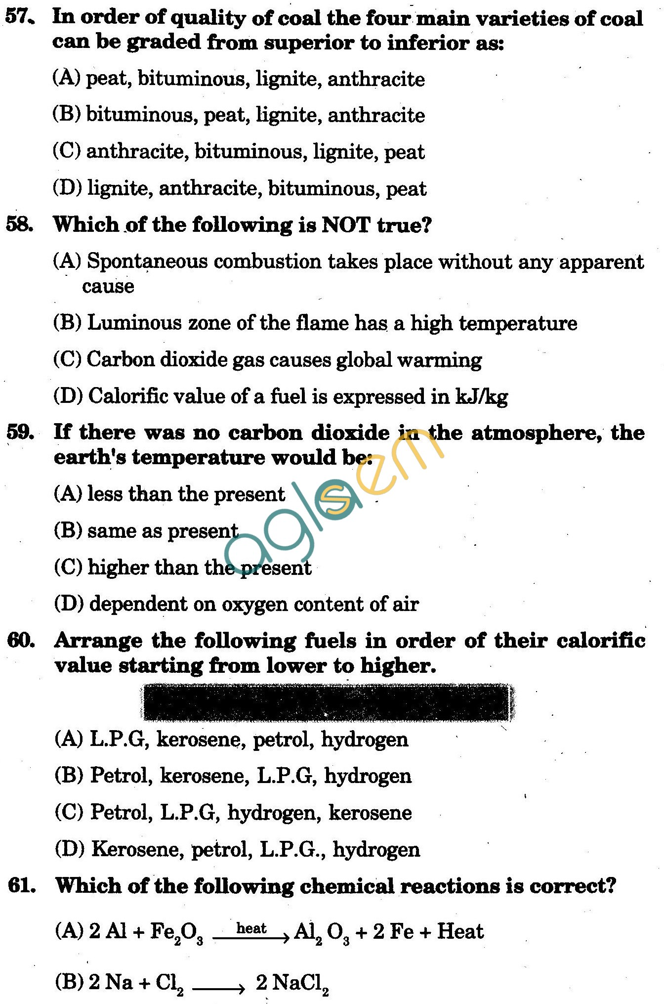 NSTSE 2009 Class VIII Question Paper with Answers - Chemistry