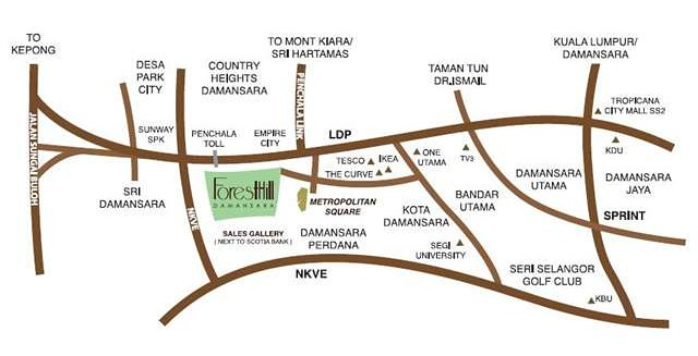 The Villa @ ForestHill Damansara Map