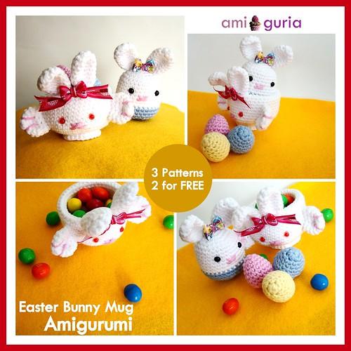 Easter Bunny Mug Amigurumi by Amiguria