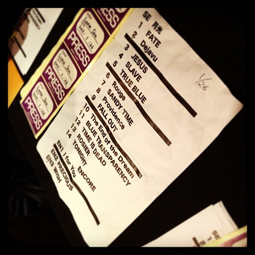 26/1/2013 set list, Luna Sea - the end of the dream @taipei