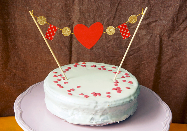 Valentinstags Cake Topper